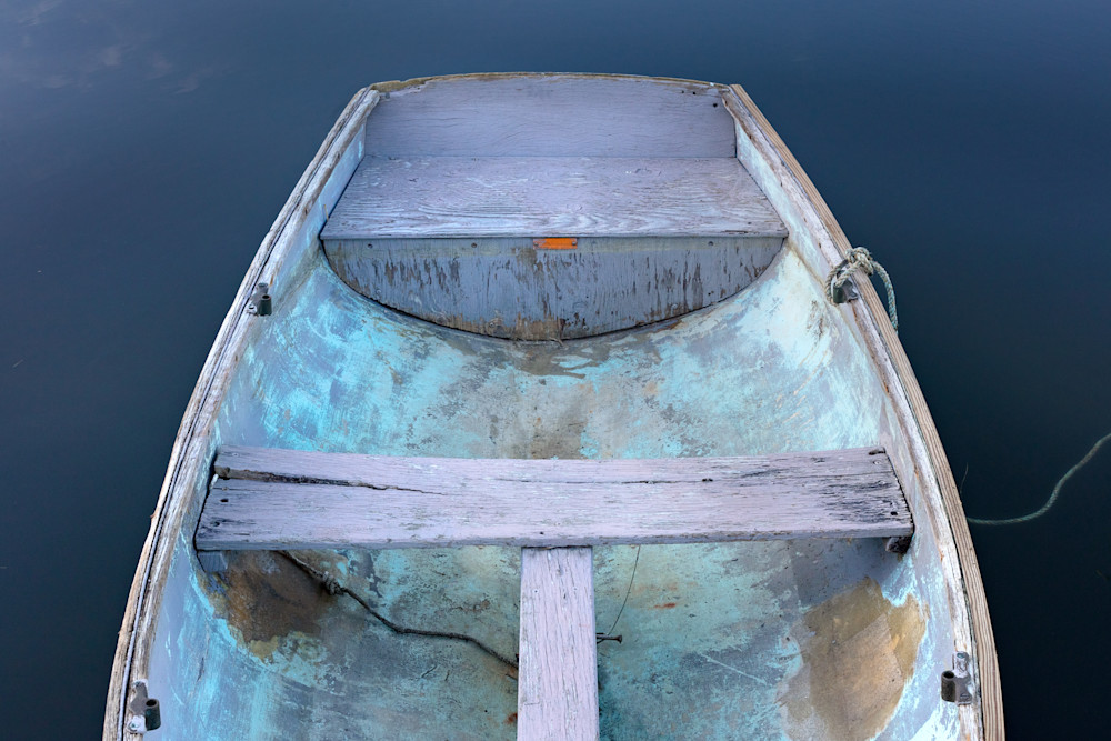 """Annisquam Rowboat"" Cape Ann Fine Art Nautical Wooden Boat Photography"