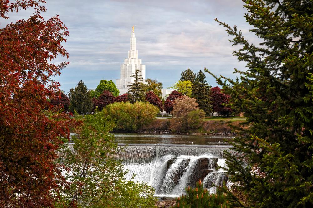 Idaho Falls Temple - Waterfall