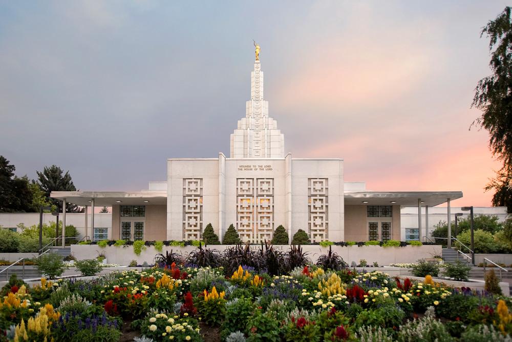 Idaho Falls Temple - Vibrant Morning