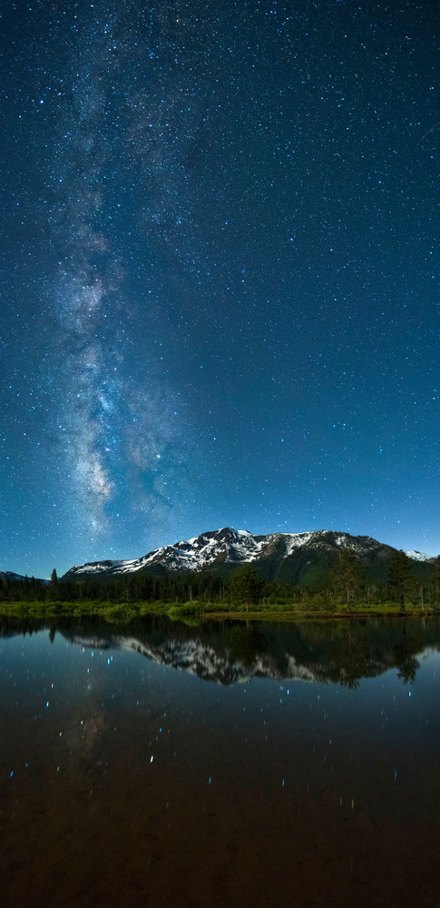 Milkyway Over Mt Tallac Fine Art Photography Print by Brad Scott