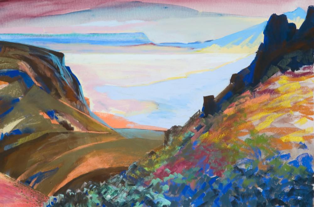 landscape painting steens mountain alvord desert