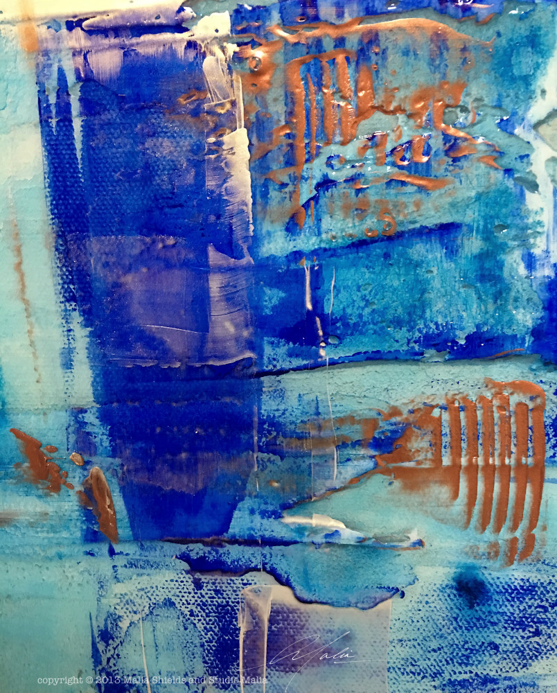 The Blues series 4/5 reproduction original painting art giclee contemporary abstract