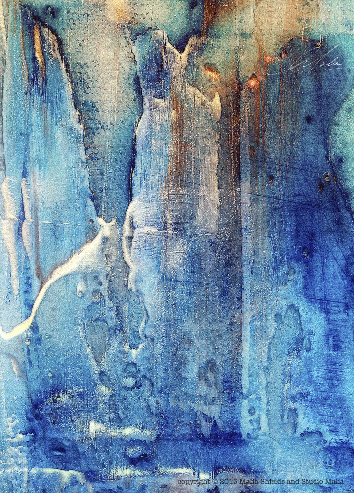 The Blues series 5/5 reproduction original painting art giclee contemporary abstract
