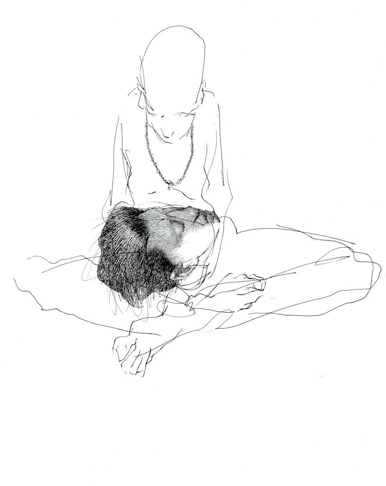 Ink Drawing-Individuation or Self Realization- by Akira Beard