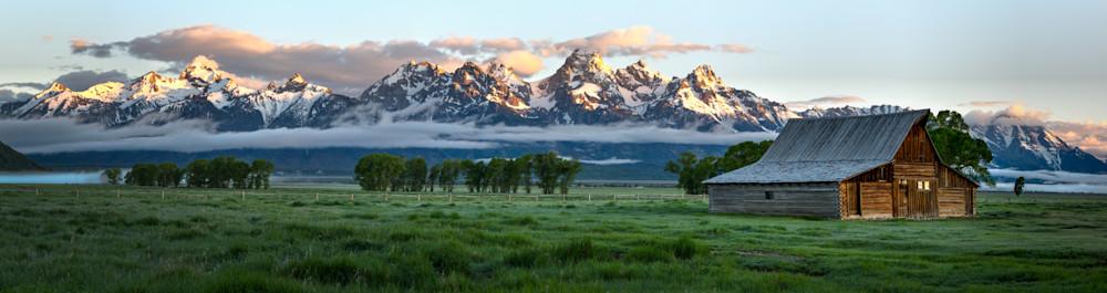 Teton Sunrise (panorama)