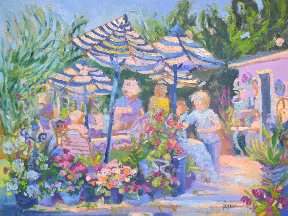 Garden Party Fine Art Print on Canvas or Watercolor Paper Dorothy Fagan Collection