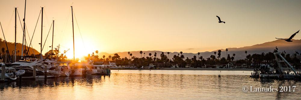 Santa Barbara Harbor Sunset - Panoramic W8A3787-2
