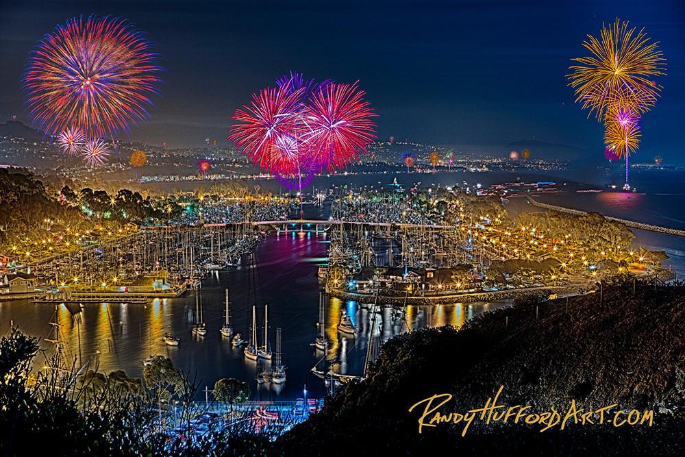 Dana Point Harbor Fireworks Art | Limited Editions Maui, Inc.
