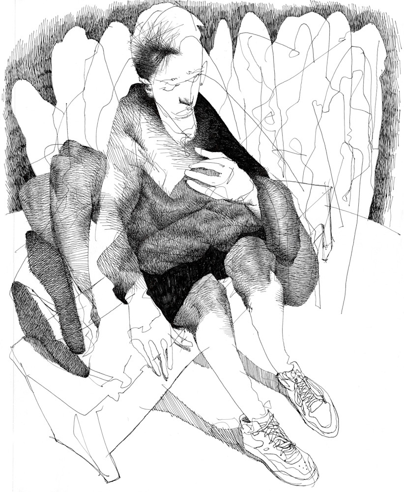 A drawing of a Pieta-The creativity of the Subconscious-by Akira Beard