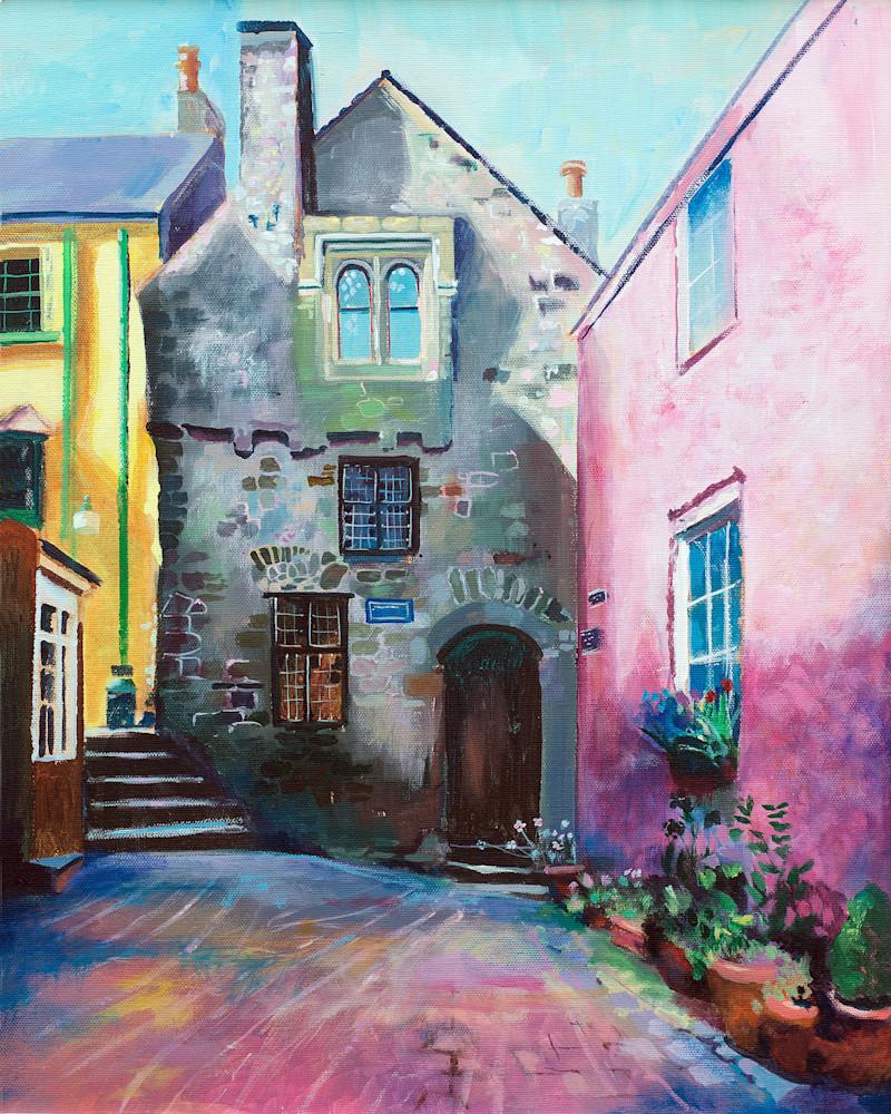 Tenby Tudor Merhcant's House Fine Art Print