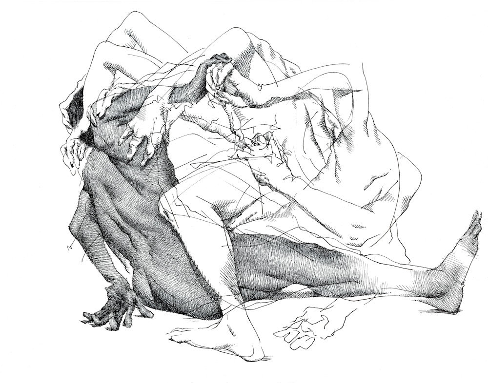Life Drawing- Ink Drawings by Akira Beard