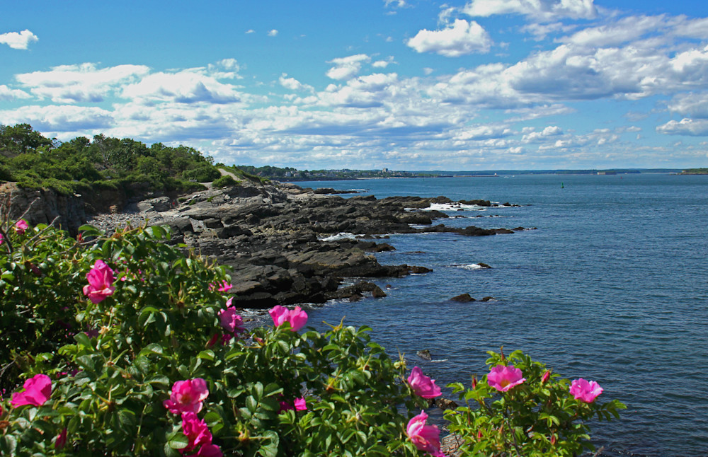 Rocky coastline of Portland, Maine