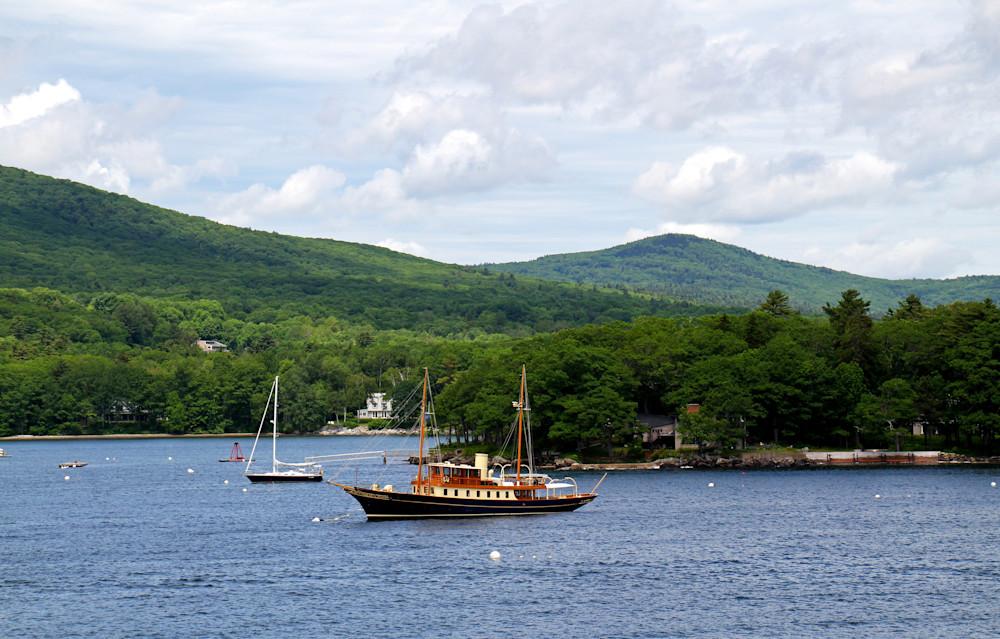 Camden Maine-Blue Yacht