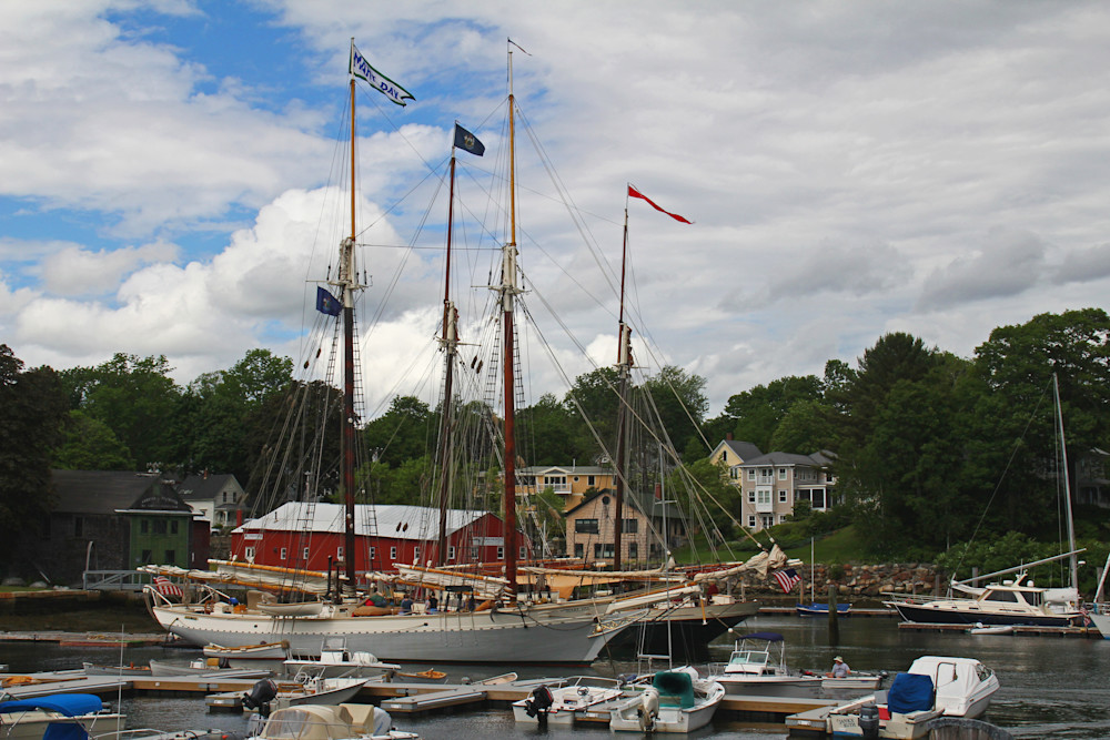 The Mary Day Sailing ship in Camden,Maine harbor