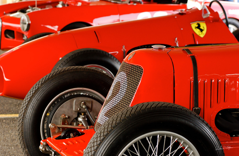 Vintage Ferraris photograph by Richard Stefani