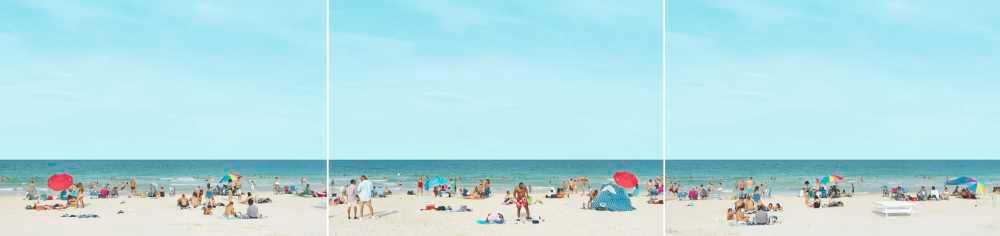 Beach Scene Triptych