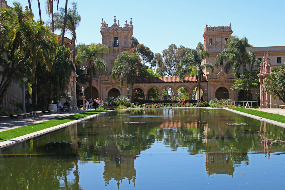 reflecting water lily pond Balboa Park