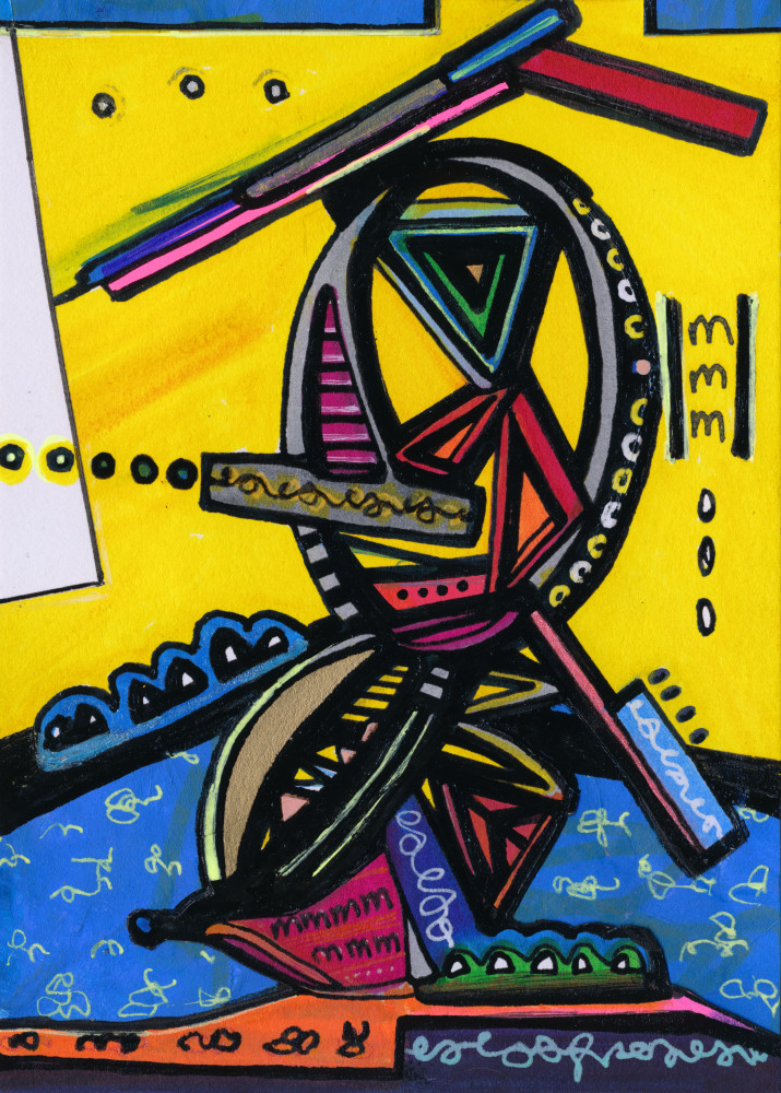 Amusement Park Abstract Painting by New York Artist Joseph Meloy