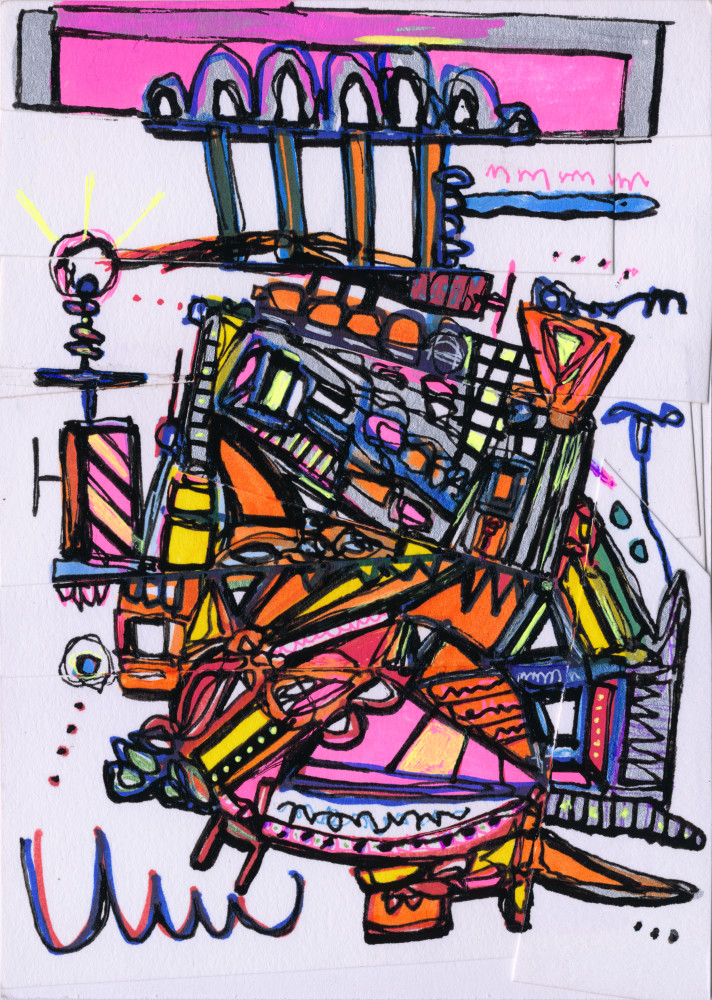 Airship Abstract Painting by New York Artist Joseph Meloy