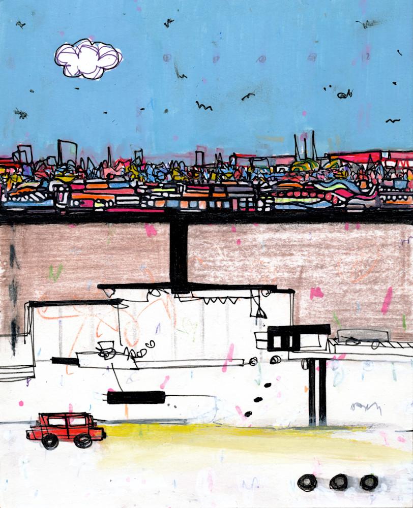 Underground Operation Landscape Painting by New York Artist Joseph Meloy