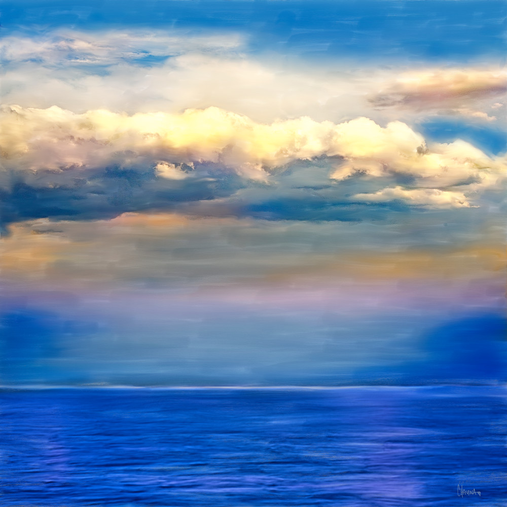 Into the Horizon painting by Christina Stefani