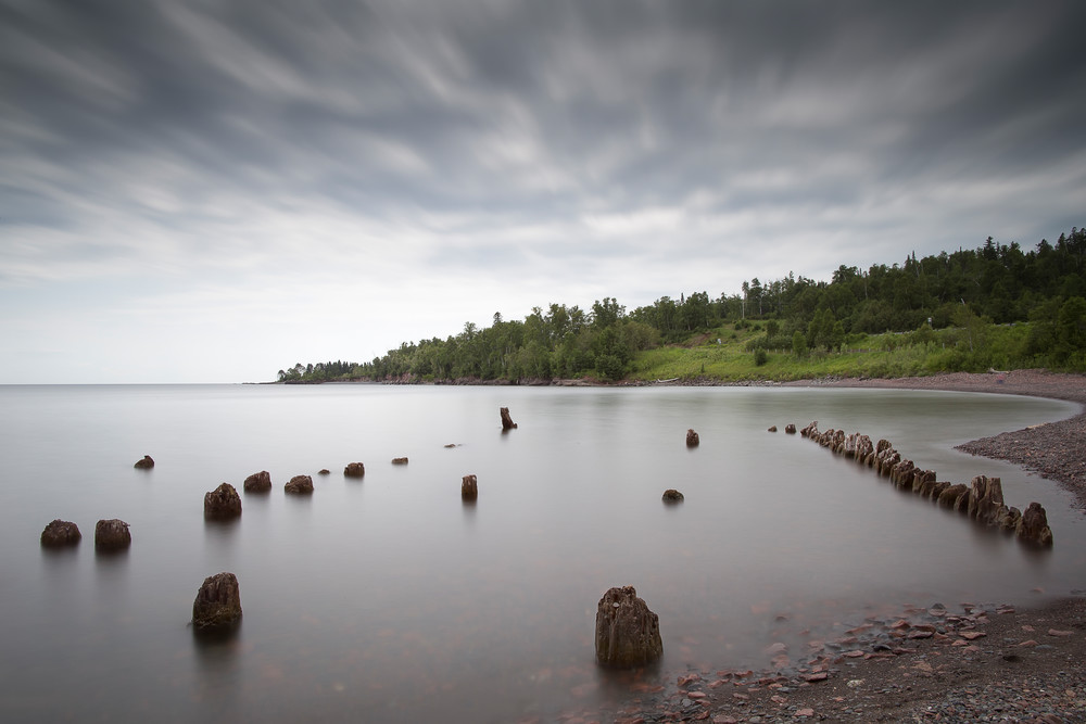 Beautiful fine art photography print of Lake Superior near Split Rock.
