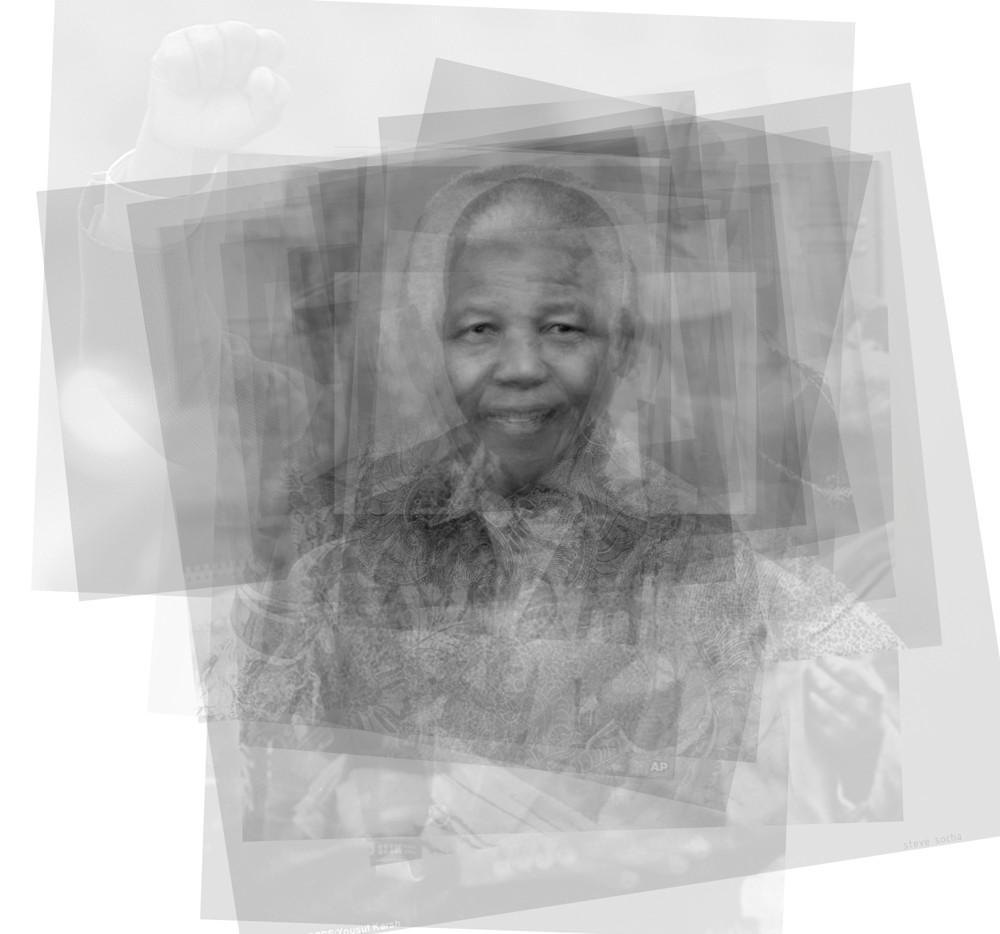 Overlay art – contemporary fine art prints of Nelson Mandella