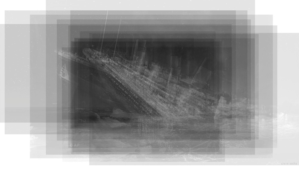 Overlay art – contemporary fine art prints of the Titanic Sinking