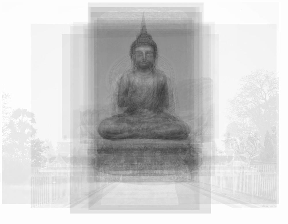 Overlay art – contemporary fine art prints of Buddha