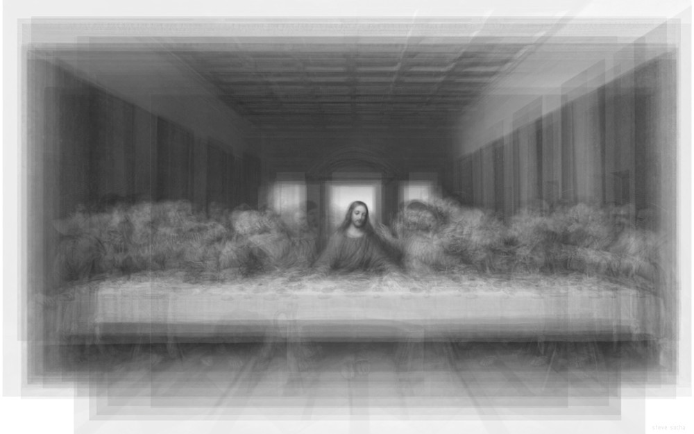 Overlay art – contemporary fine art prints of the Last Supper