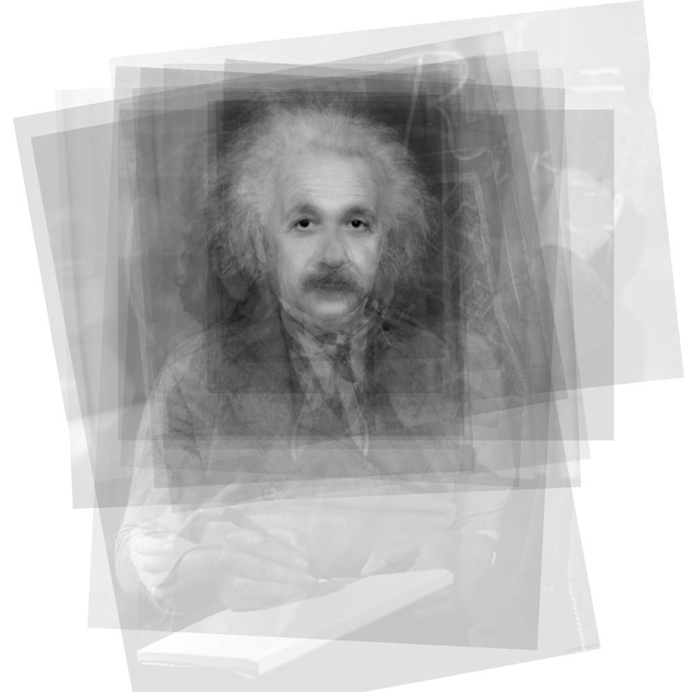 Overlay art – contemporary fine art prints of Albert Einstein.
