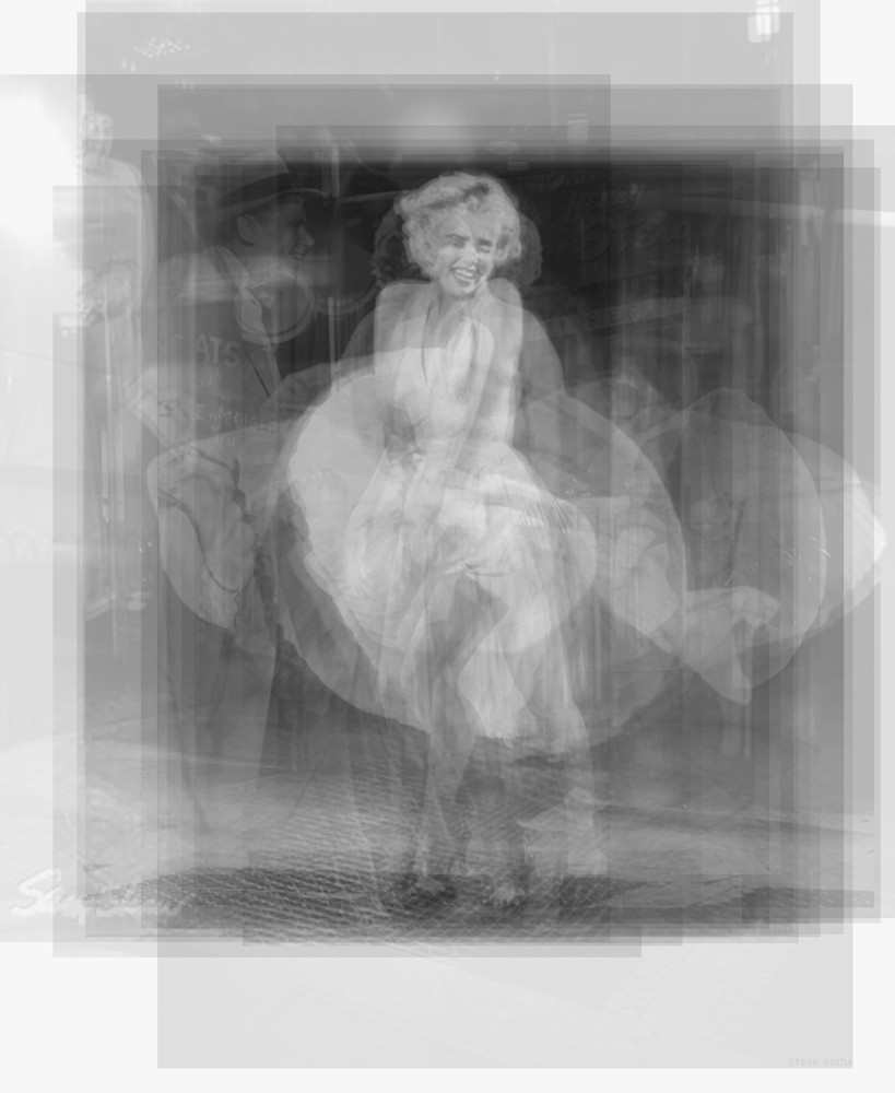 Overlay art – contemporary fine art prints of Marilyn Monroe