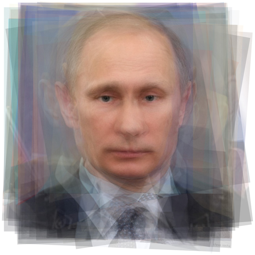 Overlay art – contemporary art prints for sale of Russian President Vladimir Putin