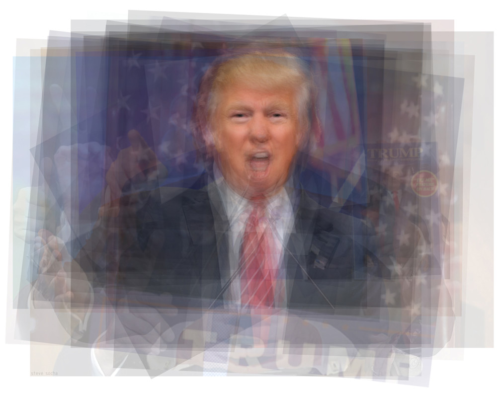 Overlay art – contemporary fine art prints of Donald Trump