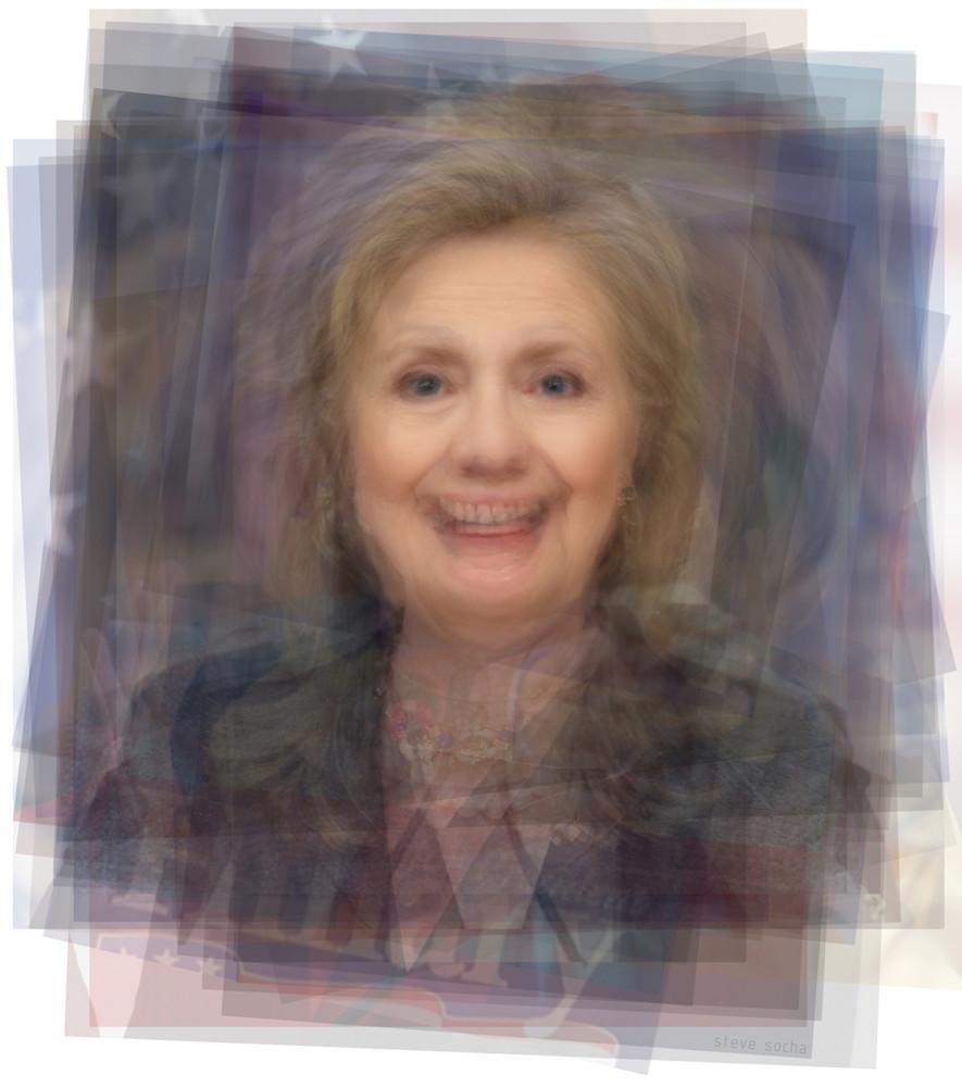 Overlay art – contemporary fine art prints of Hillary Clinton