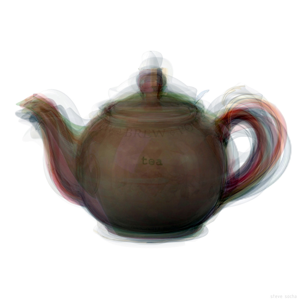 Overlay art – contemporary fine art prints of a Teapot