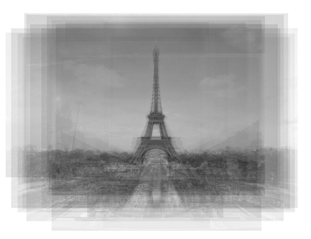 Overlay art – contemporary fine art prints of the Eiffel Tower