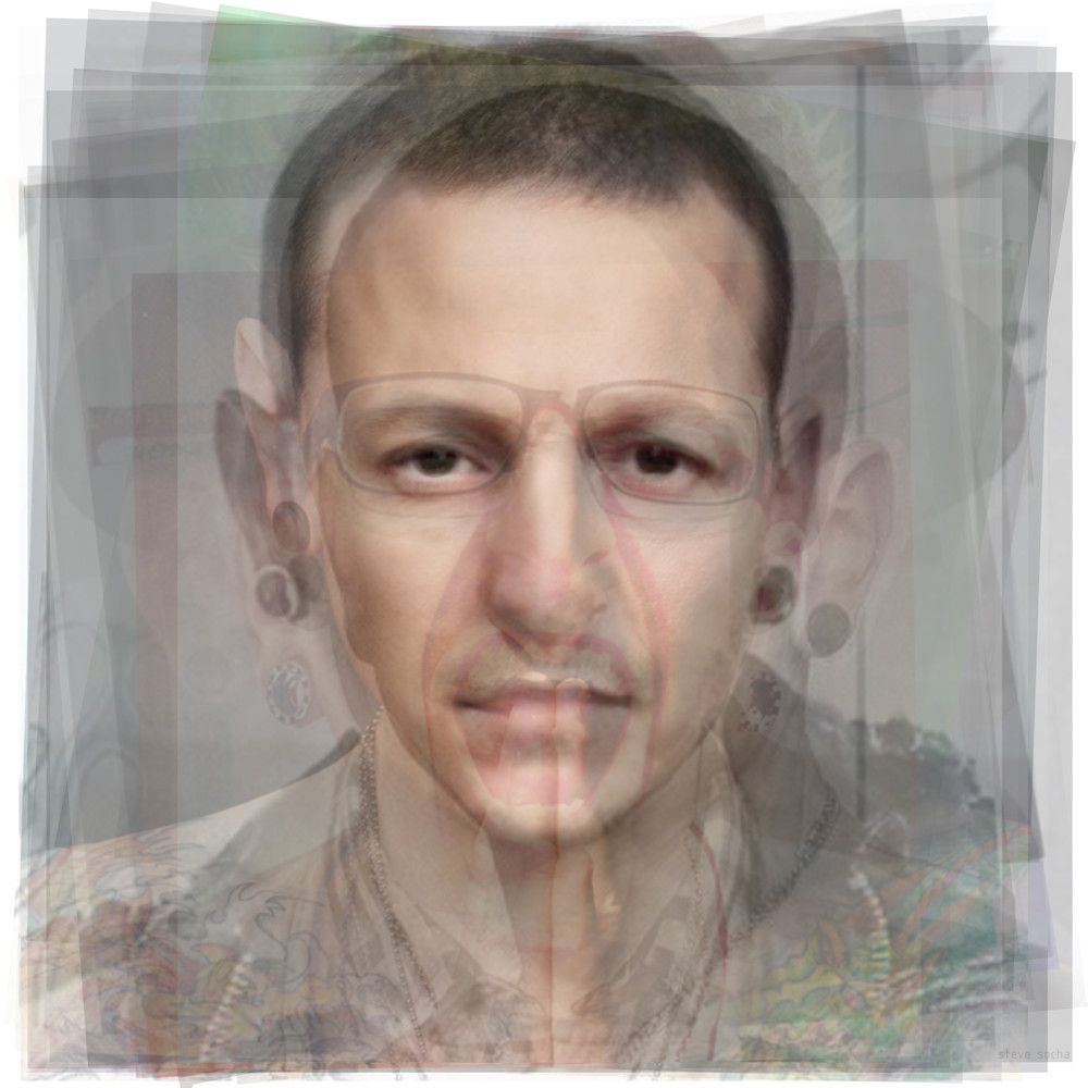 Overlay art – contemporary fine art prints of Chester Bennington