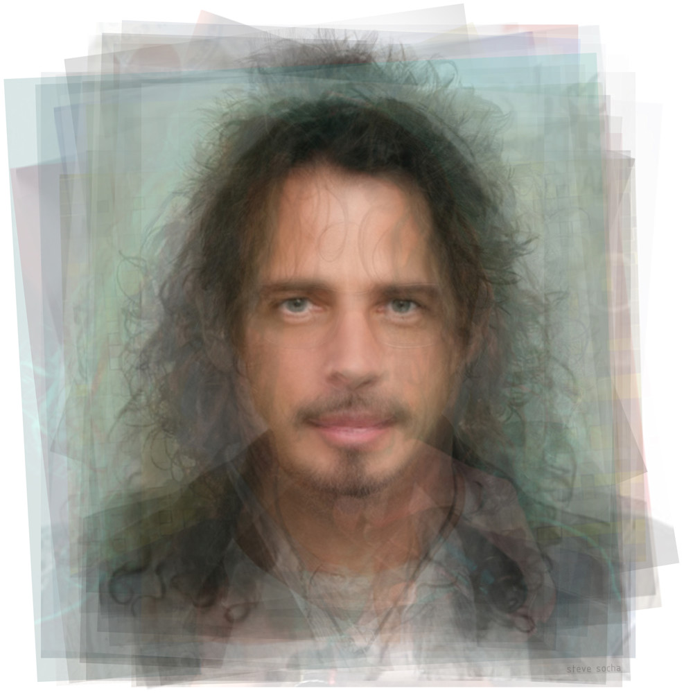 Overlay art – contemporary fine art prints of Chris Cornell
