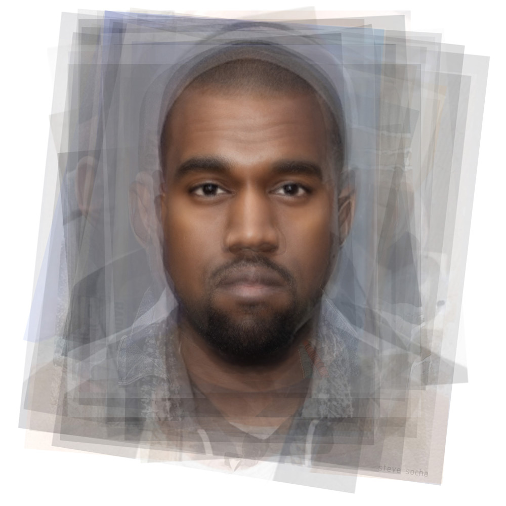Overlay art – contemporary fine art prints of Kanye West