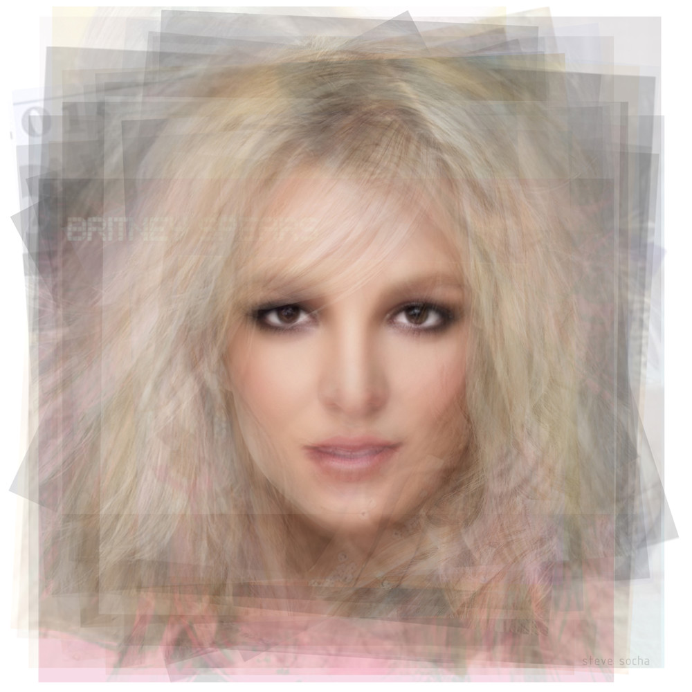 Overlay art – contemporary fine art prints of Britney Spears