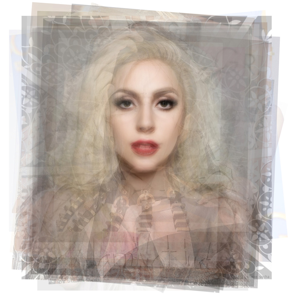 Overlay art – contemporary fine art prints of Lady Gaga