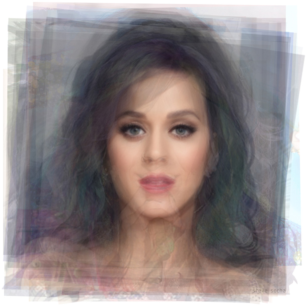Overlay art – contemporary fine art prints of Katy Perry