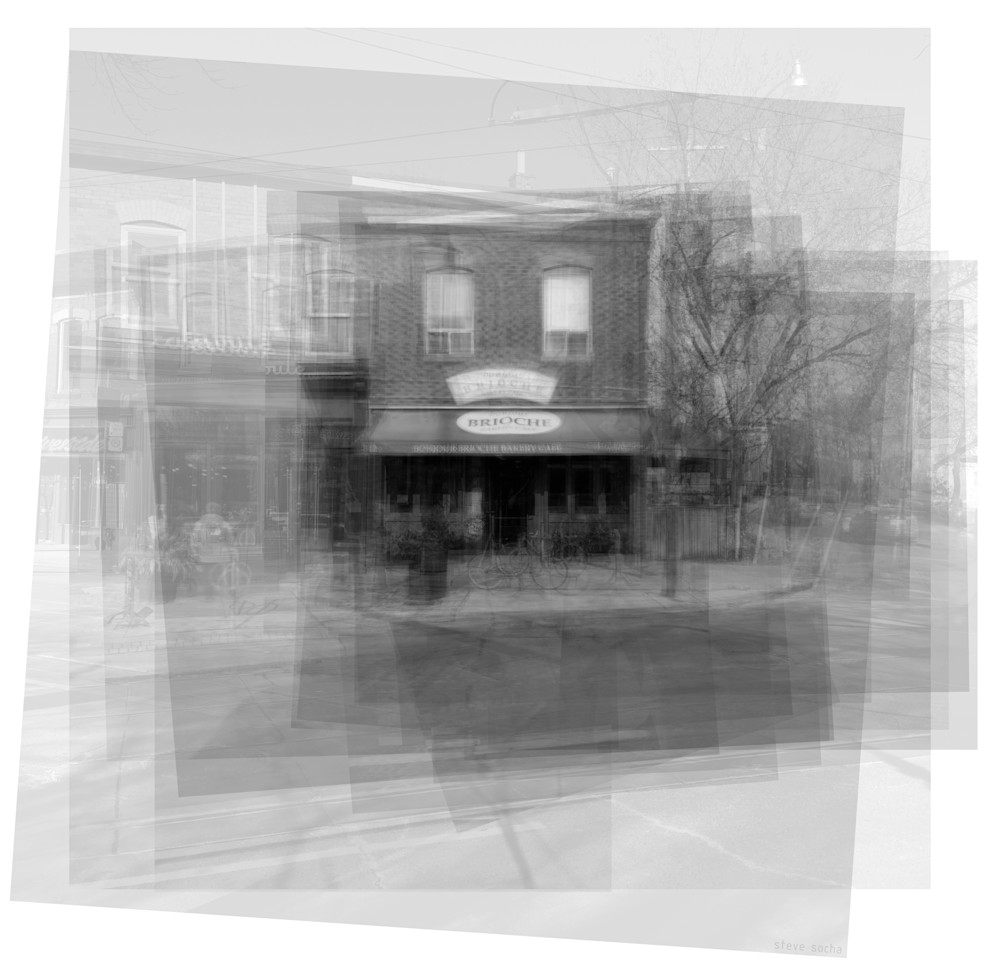 Overlay art – contemporary fine art prints of Bonjour Brioche Toronto