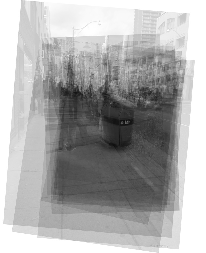 Overlay art – contemporary fine art prints of the Toronto garbage bin