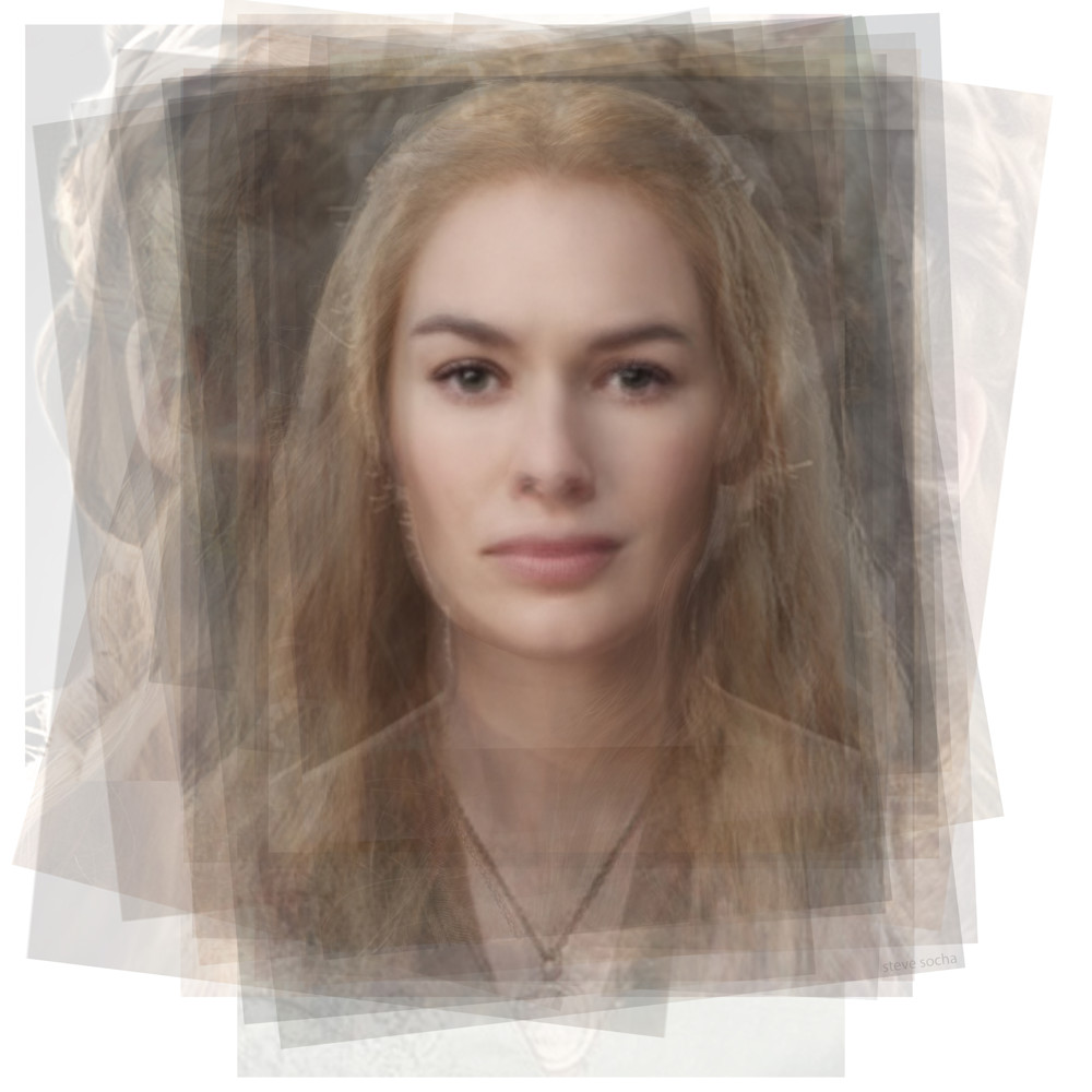 Overlay art – contemporary fine art prints of Cersei Lannister Game of Thrones