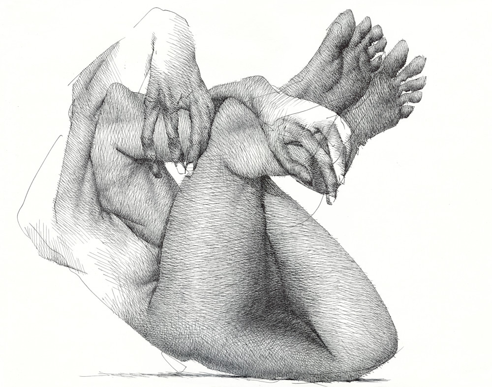 Ink Drawing- A drawing from the subconscious- by Akira Beard