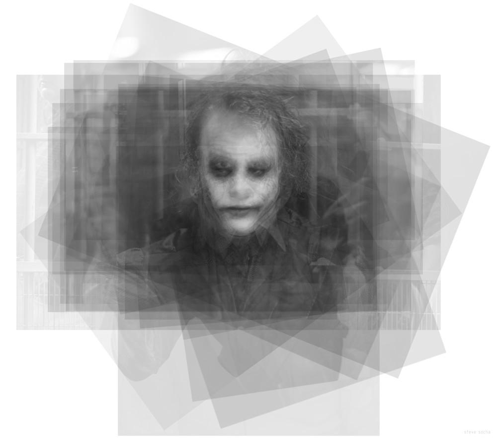 Overlay art – contemporary fine art prints of Heath Ledger as the Joker