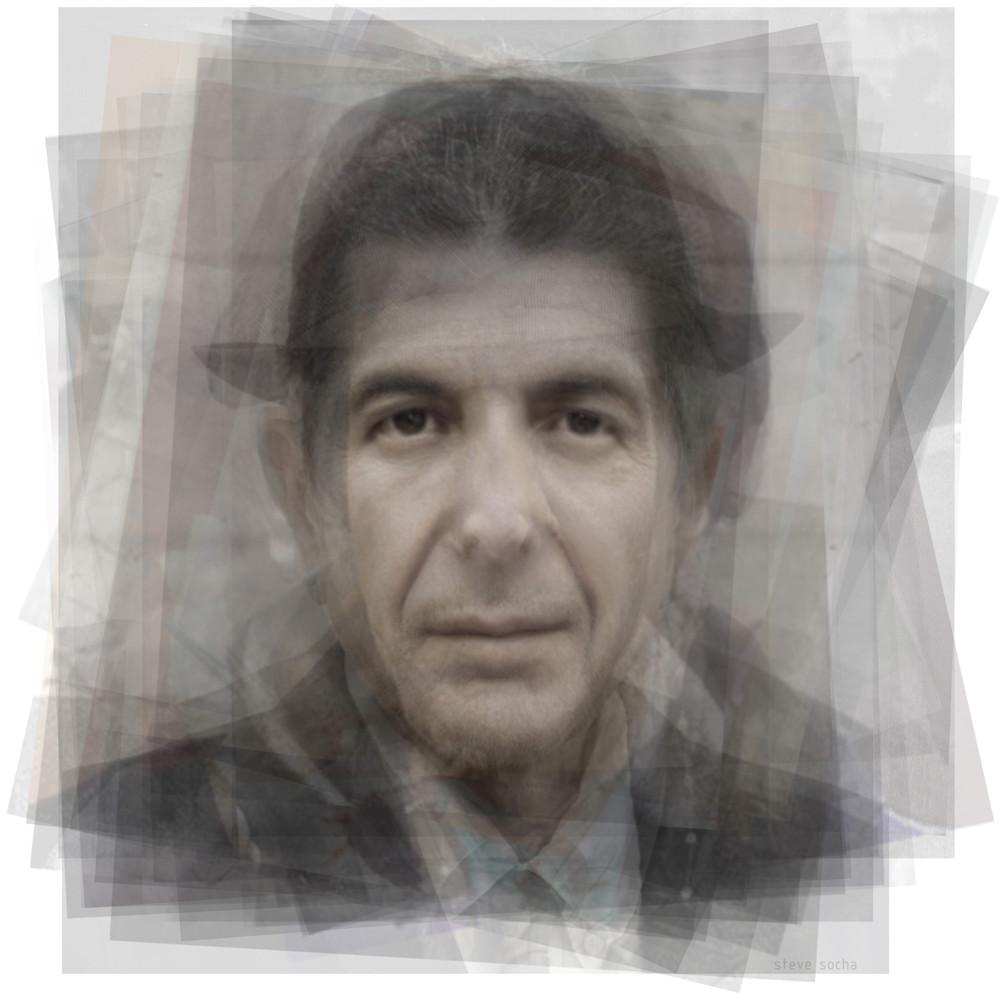 Overlay art – contemporary fine art prints of Leonard Cohen