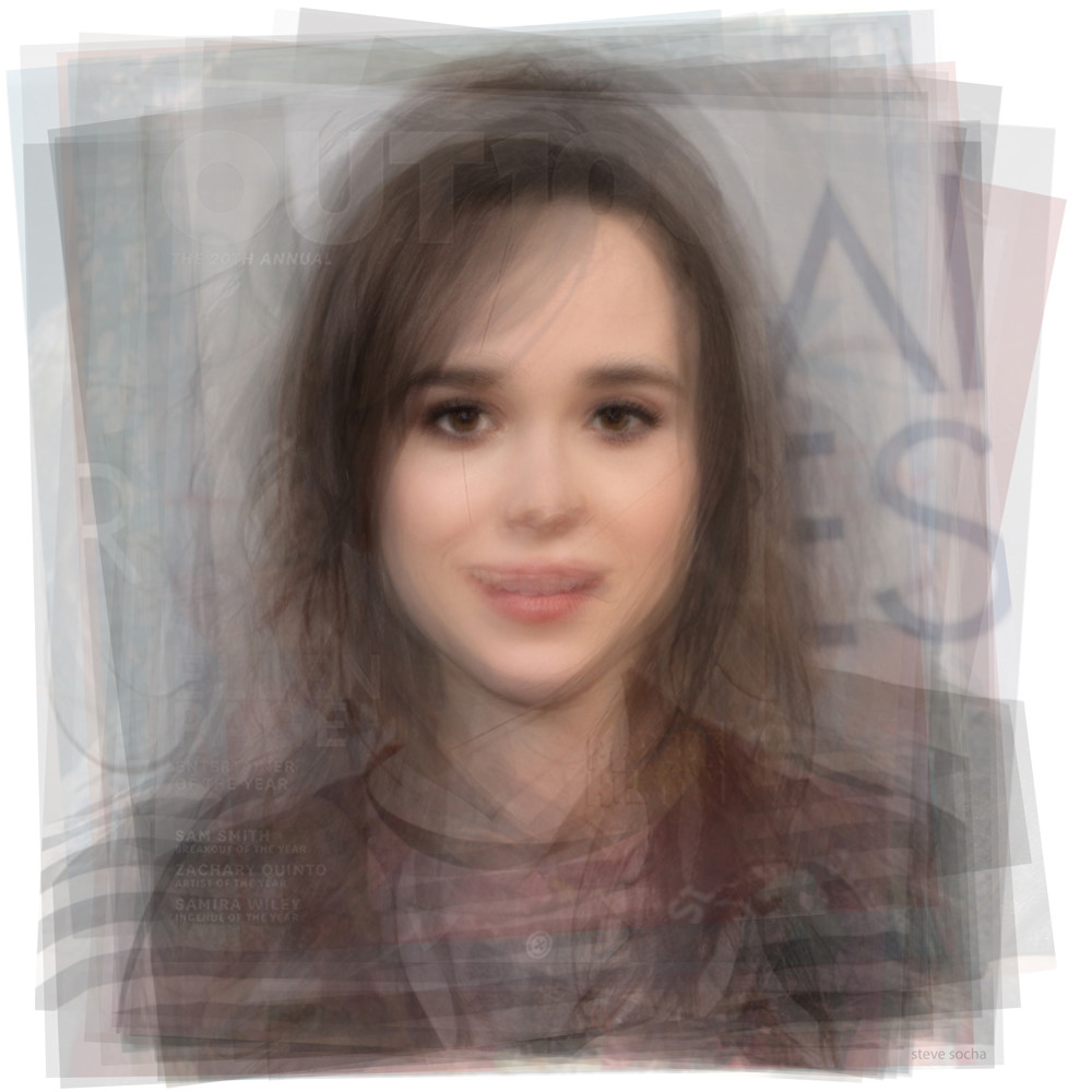 Overlay art – contemporary fine art prints of Ellen Page